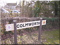 TL1058 : Colmworth village sign by Christopher Hilton