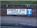 TM3877 : Steeple End sign by Adrian Cable