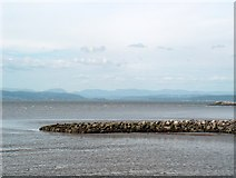 SD4364 : Breakwater at Morecambe seafront by Bill Boaden