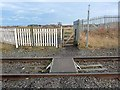 NZ3071 : Pedestrian level crossing, Blyth and Tyne railway by Oliver Dixon