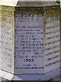 SD6001 : Maypole Colliery Memorial - Inscription by David Dixon
