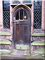 SJ4066 : Chester cathedral: cloister door by Stephen Craven