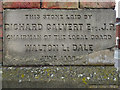 SD5626 : Walton Le Dale Local Board Offices (foundation stone) by David Dixon