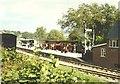 SJ2107 : Welshpool Raven Square railway station platform in 1985 by John Baker