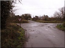 X1082 : Rural road junction not far from Youghal by Hywel Williams