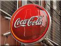 """J3374 : """"Coca-Cola"""" sign, Belfast by Albert Bridge"""