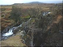SD2795 : Torver Beck splits at Banishead Quarry by Karl and Ali