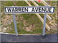 TM3863 : Warren Avenue sign by Adrian Cable