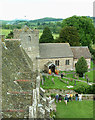 SO4381 : Stokesay church from the castle tower by Rob Farrow