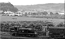 NM8529 : Eastward view outside Oban, with CR 0-4-4T at the Locomotive Depot by Ben Brooksbank