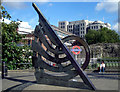 TQ3380 : Sundial near Tower Hill Station by Des Blenkinsopp