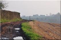 ST0215 : Mid Devon : Farm Track & Footpath by Lewis Clarke