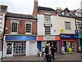 SO9670 : Bromsgrove High Street  Elements, French Connection & National Cash Advance by Roy Hughes