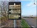 ST4490 : Old road sign at Five Lanes, by the A48 to Chepstow by Ruth Sharville