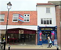 SO9670 : Bromsgrove High Street  Shop to Let (Was Cooks Bakery) & Shipleys Amusements by Roy Hughes