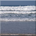 SW8574 : Sun, sea and surf at Constantine Bay by David Hawgood