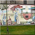 SJ9295 : Denton Mural (5 of 10) by Gerald England