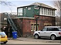 NZ1863 : Blaydon Railway Station Signal Box by Andrew Curtis