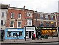 SO9570 : Bromsgrove High Street  Primrose Hospice, UrbanAngel & A-Plan Insurance by Roy Hughes