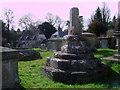 SU0987 : Medieval cross, Saint Mary's Churchyard, Purton by Vieve Forward