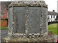 SO7403 : Slimbridge War Memorial (dedication) by David Dixon