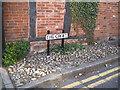 SP1565 : Bunter pebbles as deterrent paving, The Croft by Robin Stott