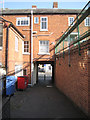 SP1566 : Footpath from car park to High Street by Robin Stott