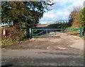 SO4502 : Entrance to Duffryn Farm, Llanfihangel Tor-y-Mynydd by Jaggery