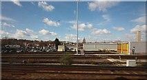 TQ2572 : Railway track - Summerstown Train Depot by John Salmon