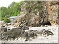 NX8854 : A cave in Brandy Cove by Ann Cook