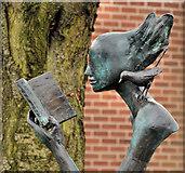 J3472 : Library sculpture, Belfast by Albert Bridge