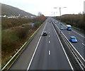 SS7492 : M4 motorway, Baglan by Jaggery