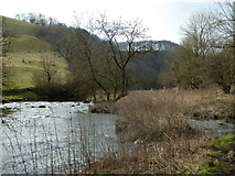 SK1273 : River Wye, looking upstream by Andrew Hill