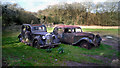 SU6884 : Old Cars Behind The Pub by Des Blenkinsopp