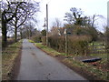 TM3966 : North Green & the footpath to the A12 Main Road by Adrian Cable