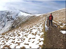 NY3416 : Pony track up Helvellyn by Oliver Dixon