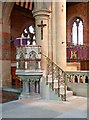 TQ2886 : St Mary Brookfield, Dartmouth Park Road - Pulpit by John Salmon