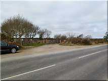 SZ0284 : Studland, bridleway and road junction by Mike Faherty