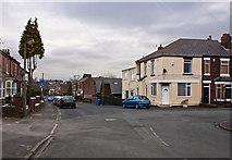 SJ5687 : Station Road meets Chapel Road by Ian Greig
