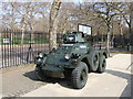 TQ2979 : Armoured fighting vehicle in  Wellington Barracks, London by PAUL FARMER