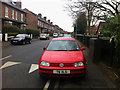 SJ8293 : Parked on the pavement - Sandy Lane Chorlton by Phil Champion
