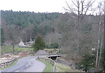 NU0702 : Bridge over outflow from Tumbleton Lake by Russel Wills