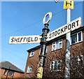 SJ9594 : An old Hyde Corporation signpost by Gerald England