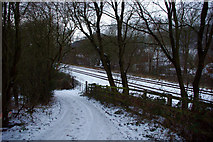 SE0026 : Roger Gate and the Caldervale railway line, Mytholmroyd by Phil Champion