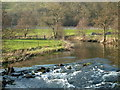 SK1869 : A short stretch of the River Wye by Andrew Hill