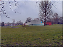 SJ8195 : The Old Trafford Sports Barn, Seymour Park by David Dixon