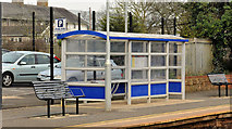 J3582 : Shelter, Whiteabbey station by Albert Bridge