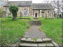 SE4529 : Steps up to the chancel door by Christine Johnstone