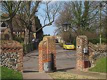TR3154 : Entrance to Church of St Mary the Blessed Virgin by Oast House Archive