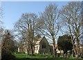 TL4765 : Landbeach churchyard in early spring by John Sutton